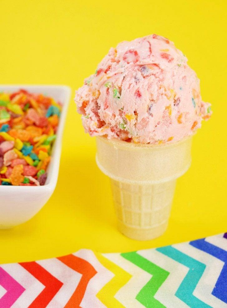 Fruity Pebbles Cereal Milk Ice Cream Recipe