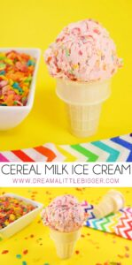 Have ice cream for breakfast! If you love cereal you're going to LOVE cereal milk ice cream. No ice cream machine necessary!