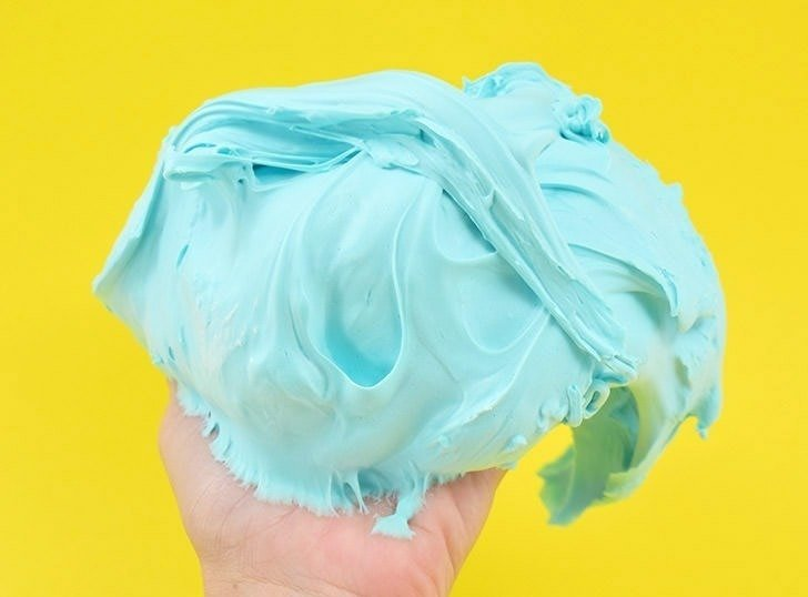 Fluffy slime is the hot new thing! Learn how to make it at home with shaving cream. It's messy but super fun!