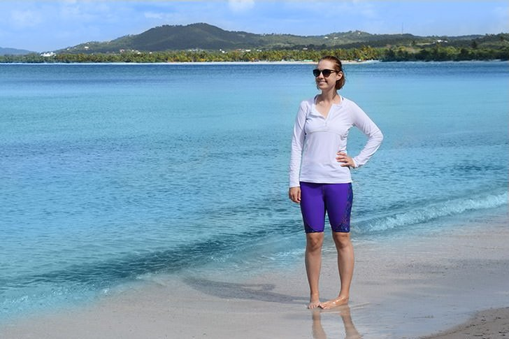 I get a sunburn pretty much EVERY time I go swimming but now that I've got a rash guard I'm never going back to boiling like a lobster (and winding up looking like on, to boot) on vacation!