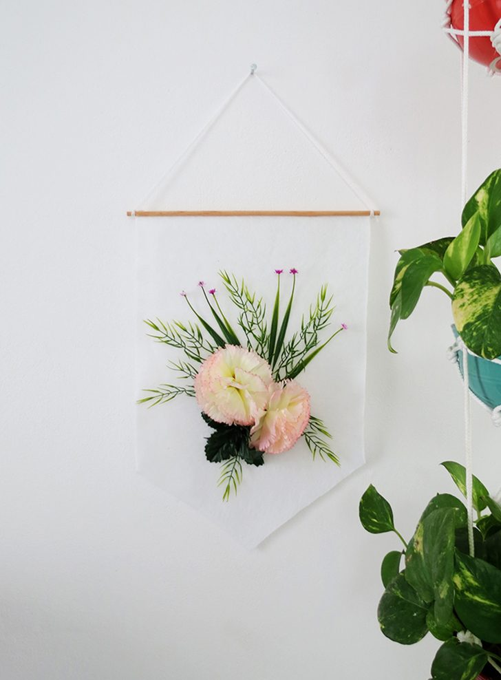 How to make a floral banner flag
