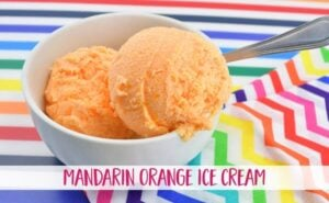 Sweet and creamy with a little bit of a tang, this mandarin orange ice cream doesn't require an ice cream machine and hits the spot on a hot summer day!