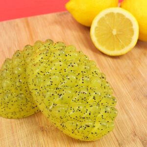 These lemon poppy seed massage bar soaps take only 10 minutes to make. Perfect for aching muscles!