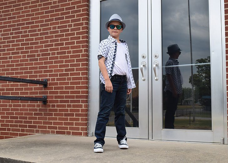 Get the kids back to school cool with a bold new outfit featuring some pretty sweet kicks!