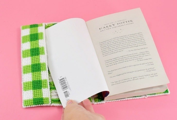 Protect your favorite books with an awesome plastic canvas stitched book cover. It's a great intro to needlepoint project!
