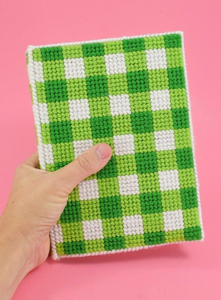 Plastic Canvas Stitched Book Cover Dream A Little Bigger