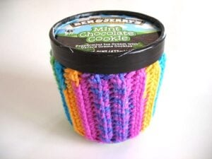 Bust that stash with these fantastic little projects perfect for some stash busting crochet like this awesome ice cream sweater!