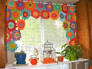 Bust that stash with these fantastic little projects perfect for some stash busting crochet like this awesome window cover!