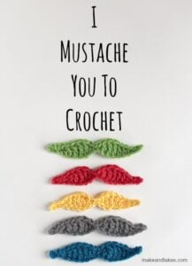 Bust that stash with these fantastic little projects perfect for some stash busting crochet like these awesome crochet mustaches!