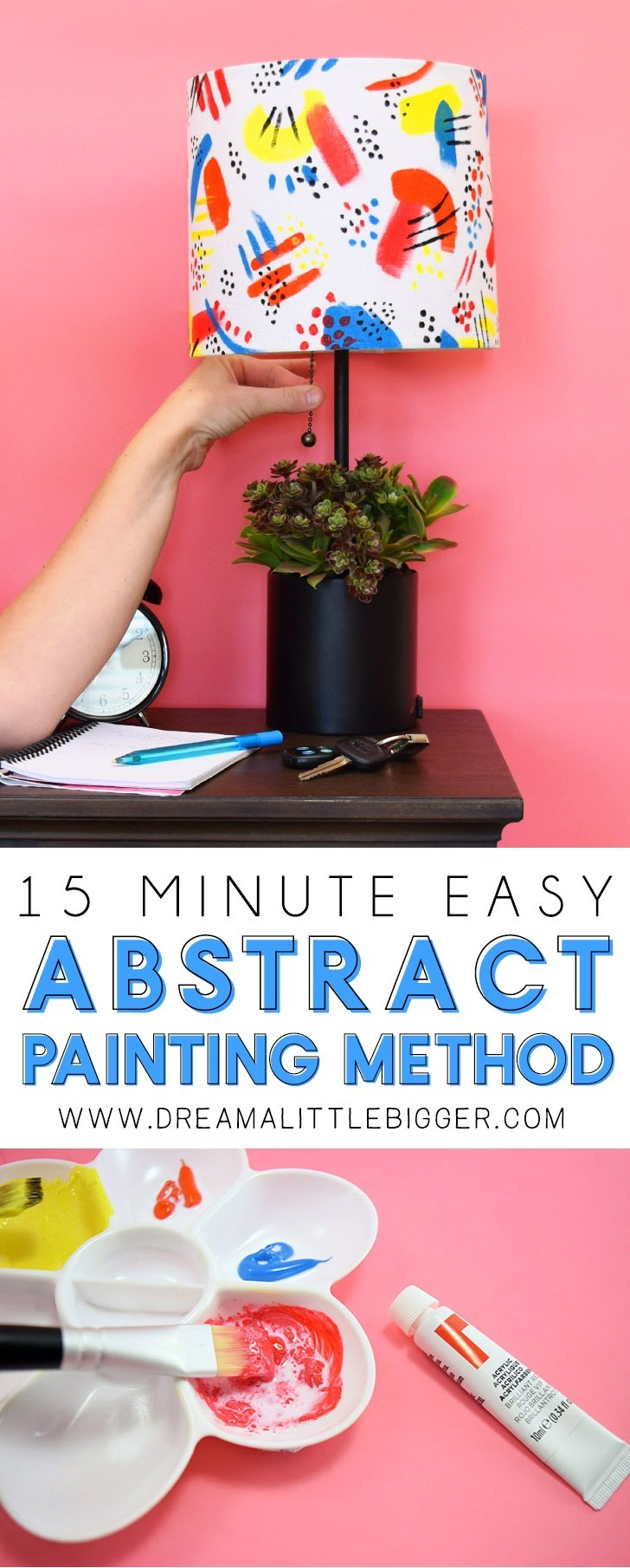This super simple abstract painting technique requires very little artistic skill and looks fab. No wonder it's a super on trend look! Learn how to copy the look in this easy to follow tutorial!