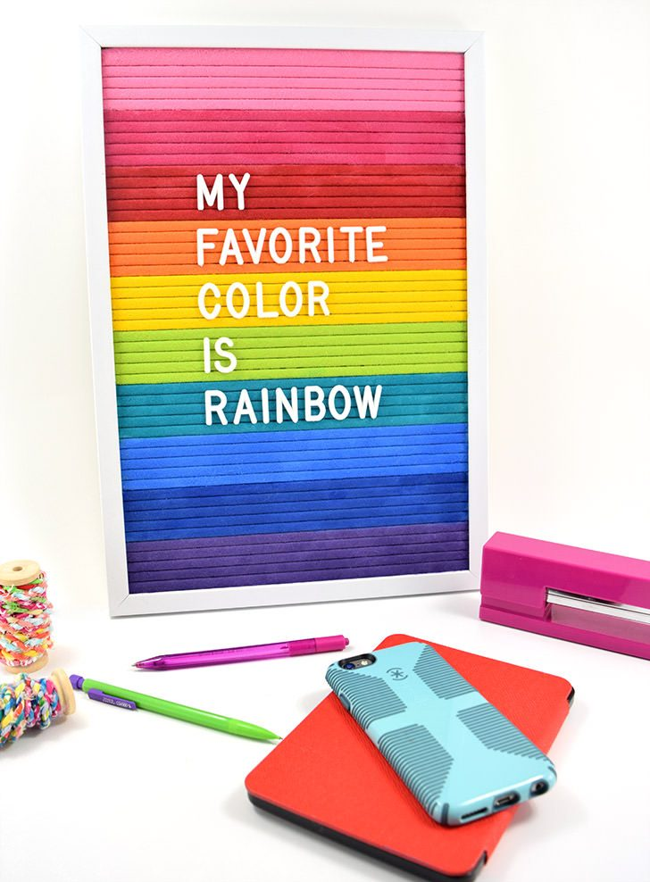 DIY $10 Rainbow Letter Board
