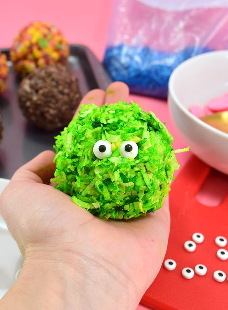 Edible Pom Pom Monster Cereal Treats