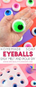 These homemade soap eyeballs are super easy to make with melt and pour AND the kiddos are going to love washing their hands with them. Win-win!