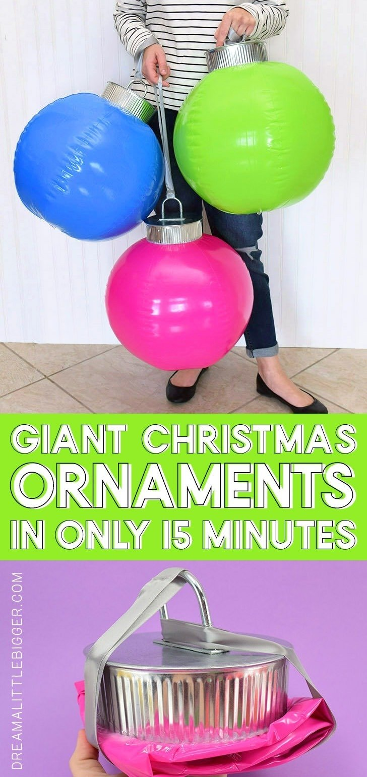 How Cool Are These Diy Giant Ornaments They Re Simple To Make And