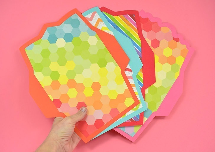 Make your own lined envelopes with any paper. Free Silhouette cut file or SVG!
