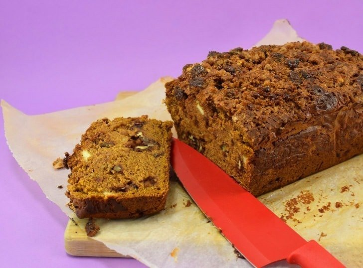 This deliciously spiced pumpkin bread recipe is the perfect fall sweet bread. Great for breakfast or dessert, it's perfectly spiced and so moist!
