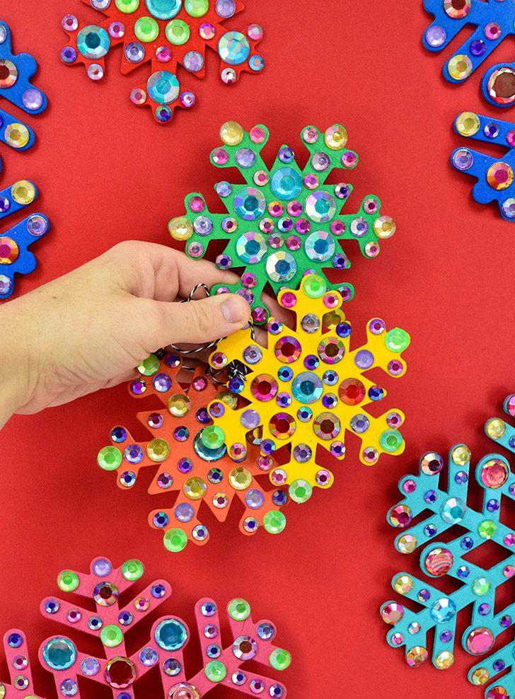 Simple but Fabulous Rhinestone Snowflake Ornaments