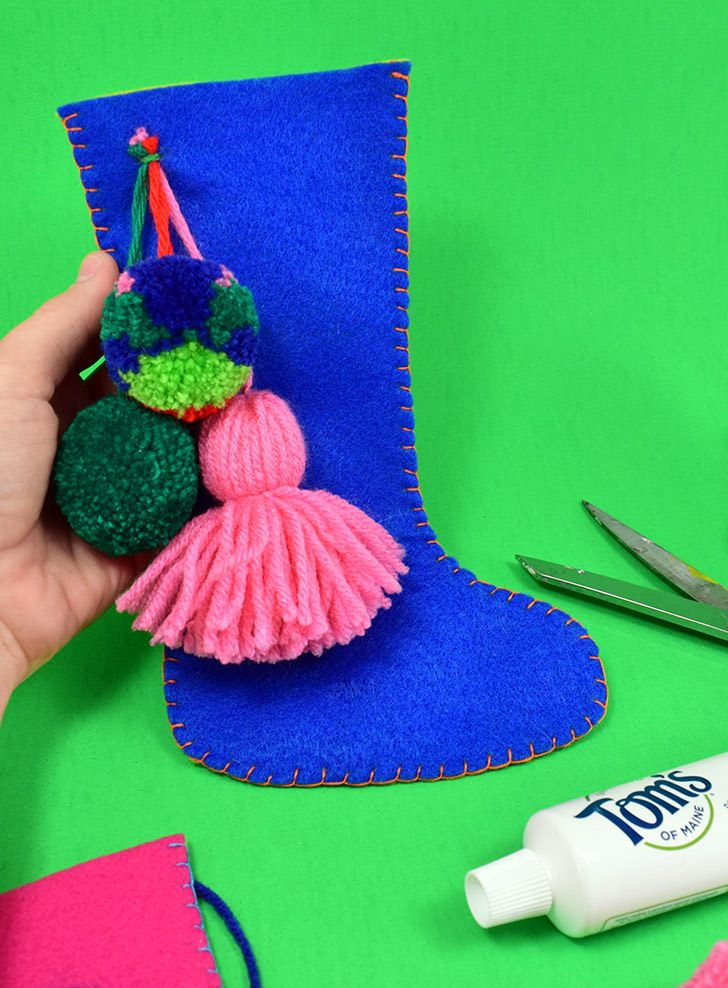 Small Felt Stockings Perfect for Necessities Stuffed with Tom's of Maine
