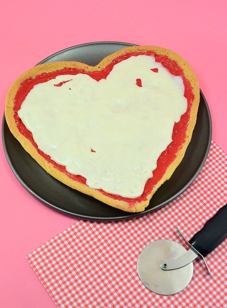 Pizza My Heart Cookie Valentine's Day Treat