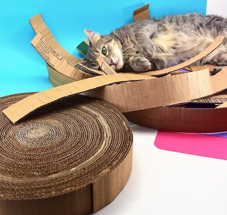 Diy Cardboard Cat Scratcher Dream A Little Bigger