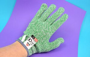 These cut resistant gloves help keep your fingers safe when using a craft knife. Great for someone accident prone like me!