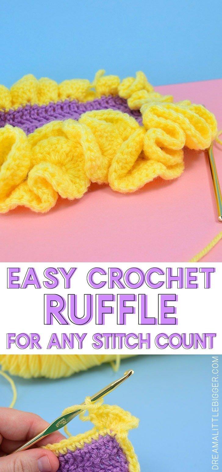 Easy Crochet Ruffle Edge Dream A Little Bigger