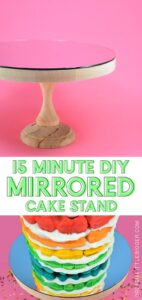 Any cake looks even more impressive on a mirrored cake stand! See how to make one that is the perfect size for the cakes you bake most often!