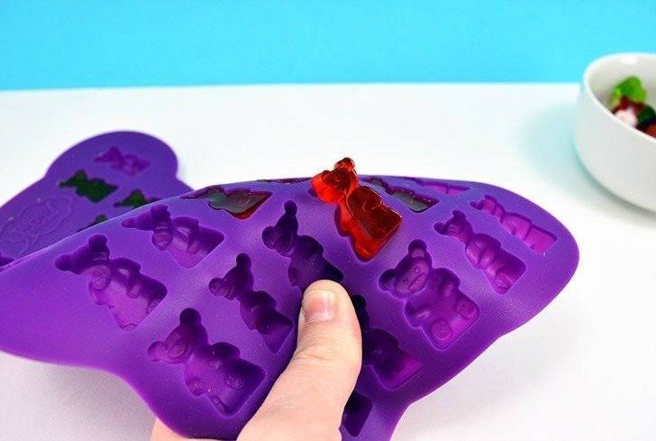 Easily make homemade gummy candy at home using your favorite fruit juice and any silicone mold you please from gummy bears to hearts to holiday shapes!