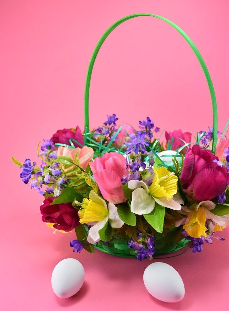 10 Minute Floral Easter Basket