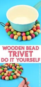 Save your tabletops and counters from unnecessary burns with an easy to make wooden bead trivet. Paint, dye or leave the beads natural to match any kitchen