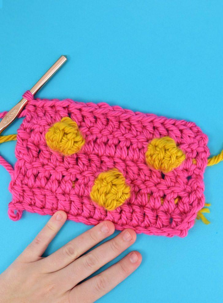 How to Crochet Polka Dots