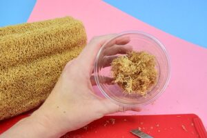 If you love loofah soap but it's a bit to harsh for your skin, try this exfoliating loose loofah soap, instead. It's super refreshing and not so coarse.