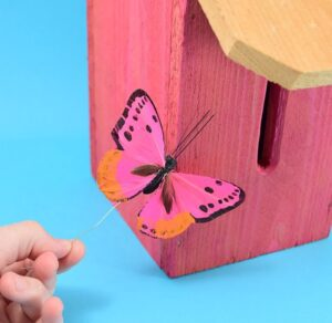 Grab a cedar picket to make a lovely and simple DIY butterfly house. This budget-friendly project works out to only $3 in lumber apiece!