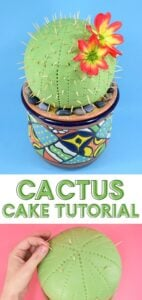 You don't have to be a master decorator to knock out this fun and super easy DIY cactus cake. This one is made from cereal but you can also use real cake!