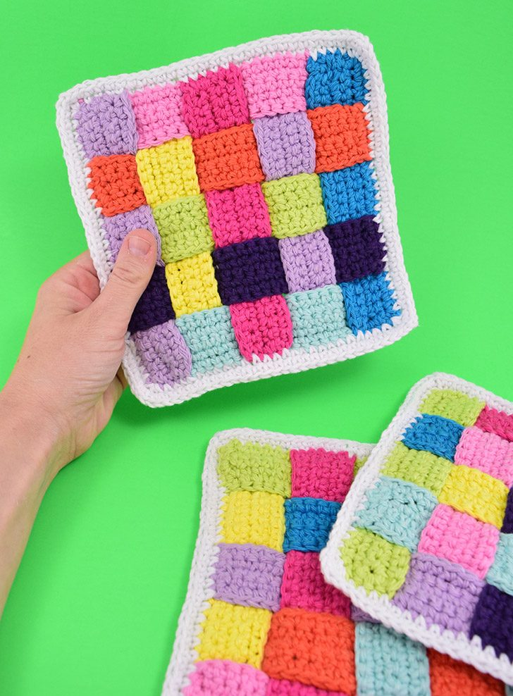 How to Weave a Woven Crochet Dishcloth