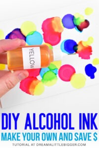 Alcohol inks are incredibly expensive. Save BIG BUCKS by making homemade alcohol inks. You'll get vibrant, gorgeous alcohol ink at a fraction of the cost!
