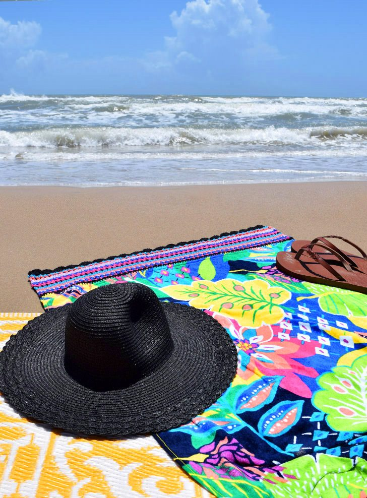 Crochet Edge Beach Towel