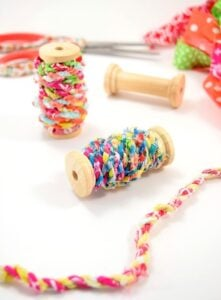 Learn how to turn your scrap material into simple and adorable fabric twine. Make something cute and bust your craft stash at the same time!