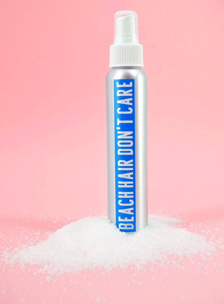 DIY Sea Salt Spray for Wavy Beach Hair