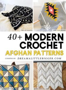 It's kind of amazing how crochet is modernizing, isn't it? Check out these 40+ modern crochet afghan patterns that are sure to catch your eye!