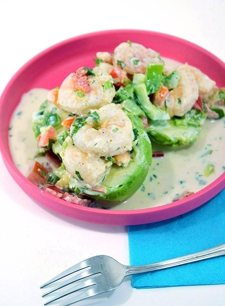 Shrimp Salad Stuffed Avocado Recipe
