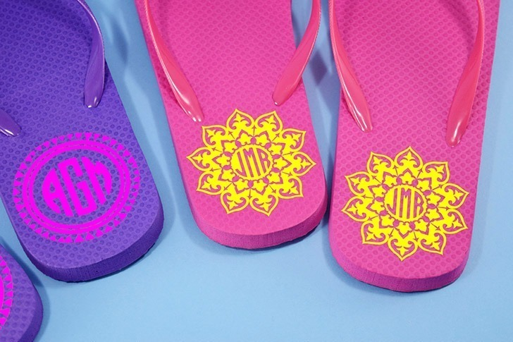 Dollar bin flip flops are so easy to personalize with a little HTV. Monograms, cheeky sayings, images, there are no rules to making your sandals uniquely you!Dollar bin flip flops are so easy to personalize with a little HTV. Monograms, cheeky sayings, images, there are no rules to making your sandals uniquely you!