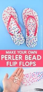 I've never met a kid who didn't love Perler beads. They're going to flip when they see these DIY Perler bead flip flops!