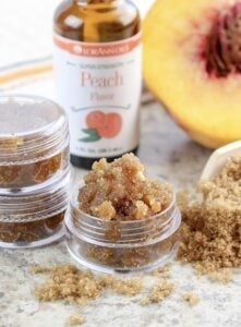 Soothe rough lips in only 5 minutes with this amazingly simple DIY just peachy lip scrub. I know you're going to just love it!Soothe rough lips in only 5 minutes with this amazingly simple DIY just peachy lip scrub. I know you're going to just love it!