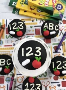 As cute as they are, these back to school chalkboard cupcakes aren't that difficult to make. In fact, it's as easy as ABC or 123!