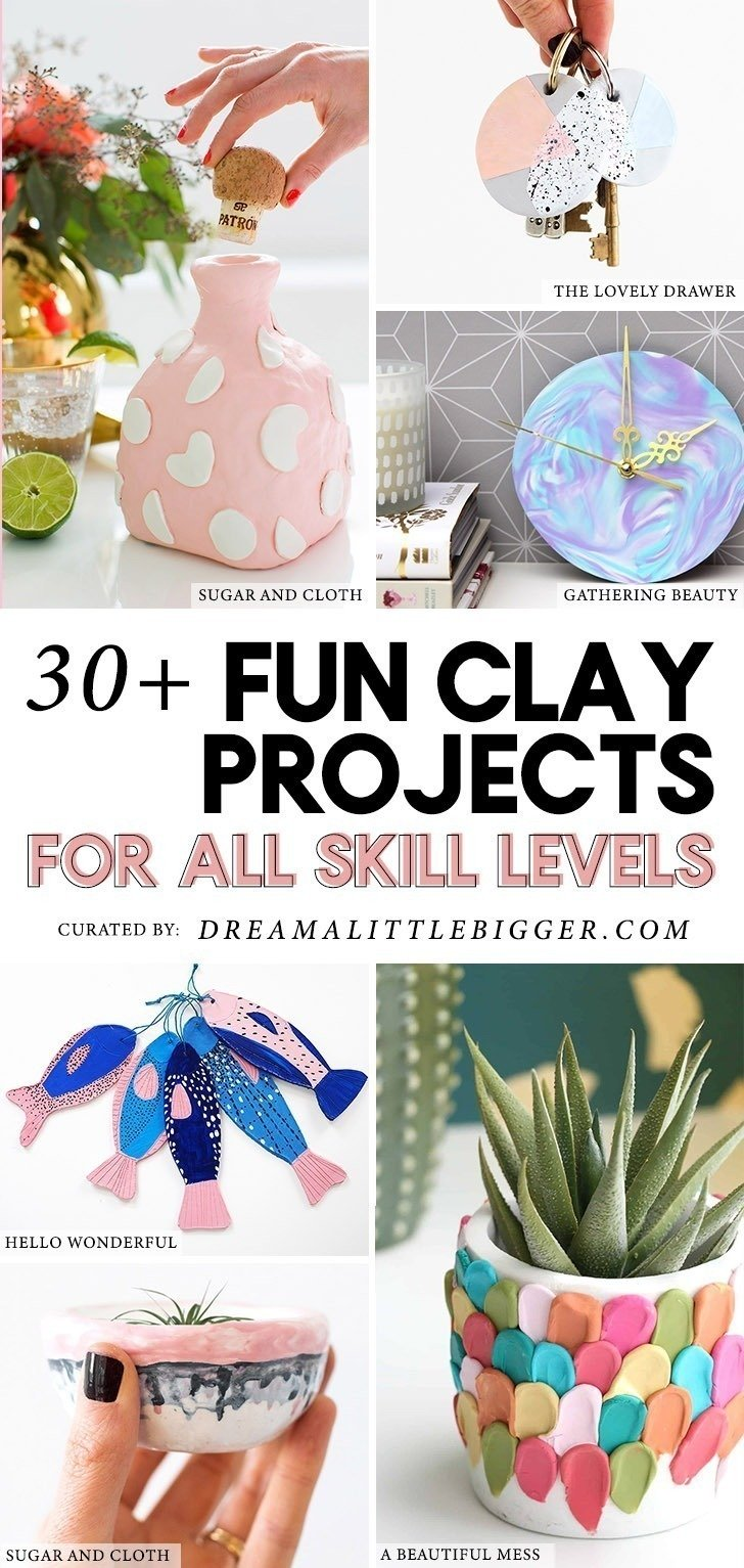 No matter your skill level you'll love these colorful and amazing clay crafts that use both air dry and polymer clays to perfection!