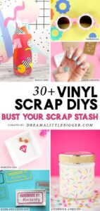 Looking to use up your vinyl scraps? These vinyl scrap projects are little on product but big on impact!