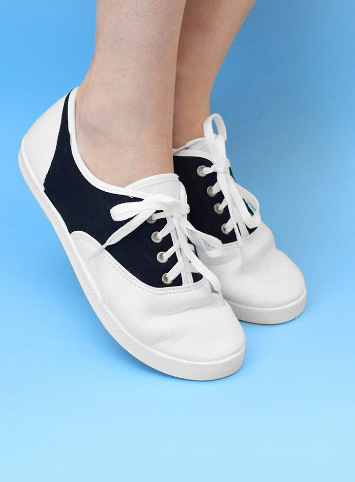 65c327d61da8 DIY Saddle Shoes Tutorial