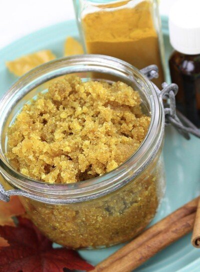 With its natural anti-inflammatory properties, this turmeric sugar scrub is a great treatment to exfoliate while creating a lovely, natural glow!
