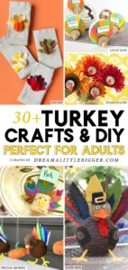 Give thanks for your crafty personality with these adorable turkey crafts for adults that are simple enough kids can get involved, too!